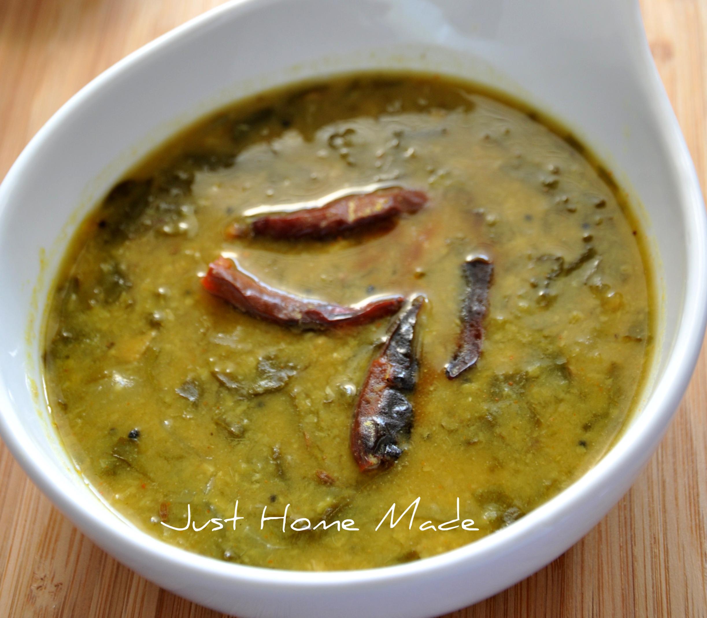 Palakura Pappu   Palak Dal - Andhra style Spinach and