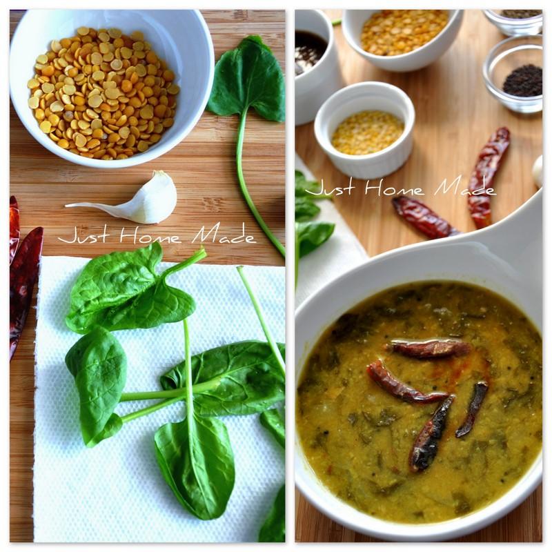 Palakura Pappu | Palak Dal – Andhra style Spinach and lentils ...