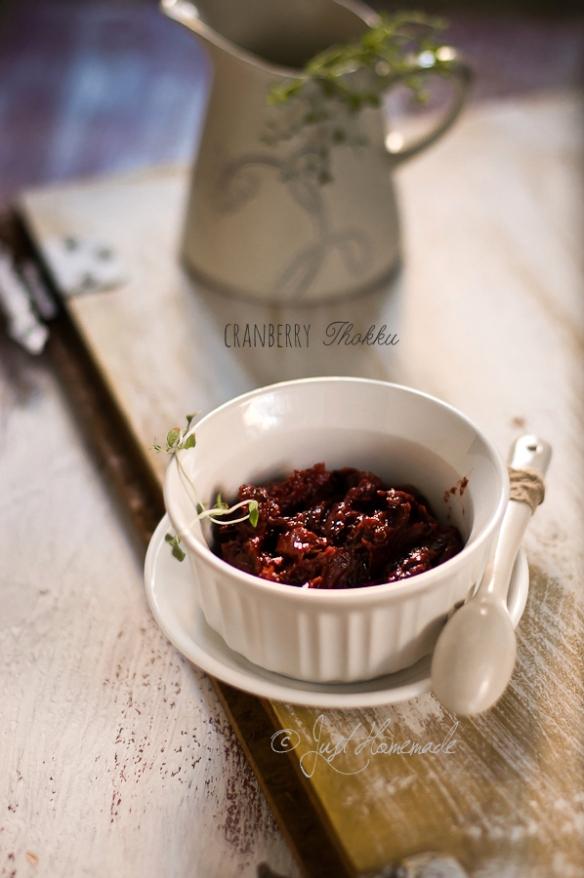 cranberry thokku