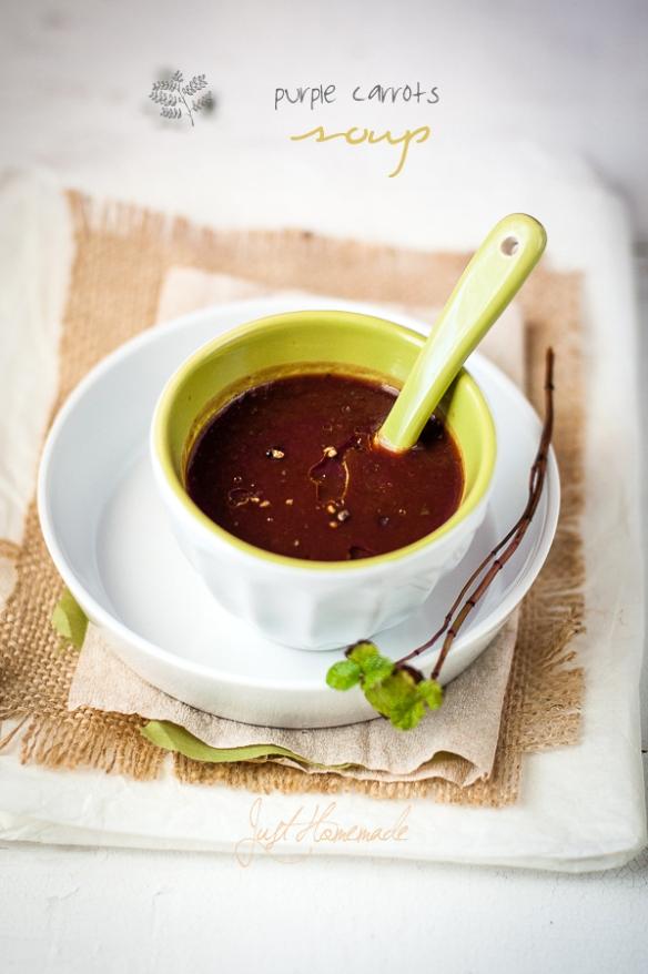 Purple Carrot soup
