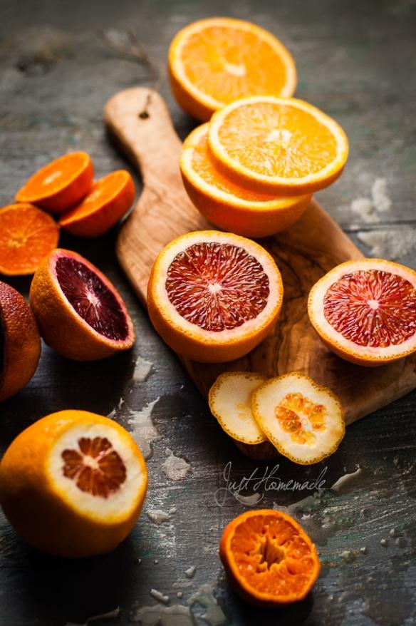 Blood Oranges cut