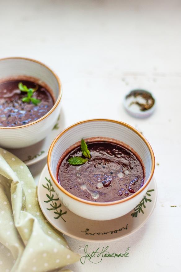 Purple Carrots soup