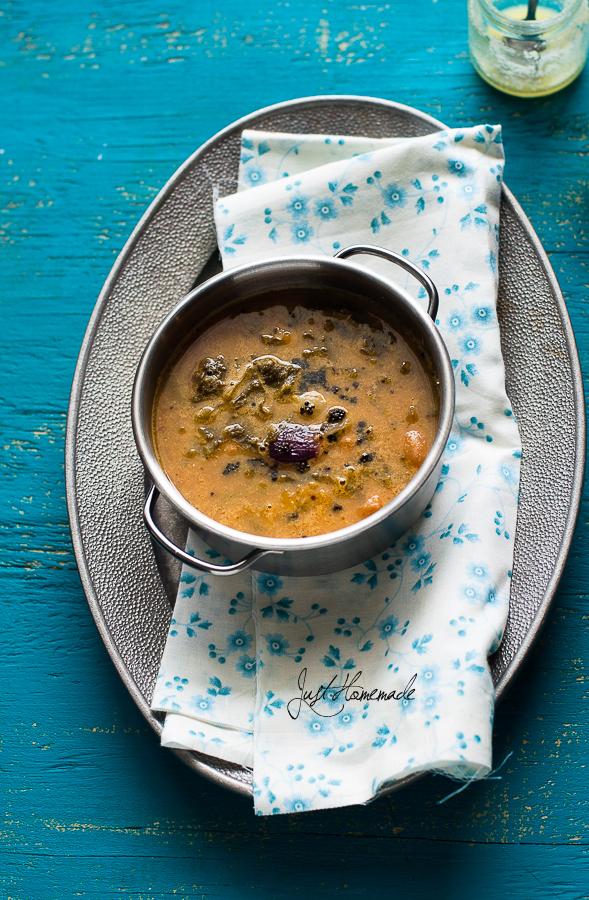 BasaLe Soppu Koddel |Mangalore style Malabar Spinach SambarJust