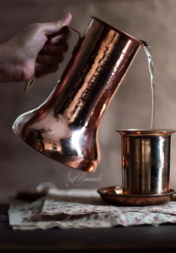 coppre jug water