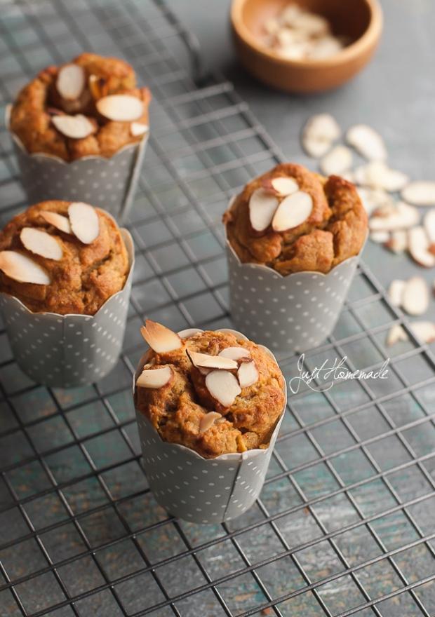 banana saffron cardamom muffins