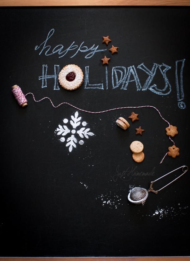 linzer cookie happy holidays